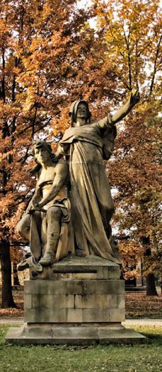 Josef Václav Myslbek - Přemysl and Libuše (from sculptural group from Czech legends at Vyšehrad, Prague, Czechia (1881-1897) #sculpture #Czechia #CzechArt #art #memorial