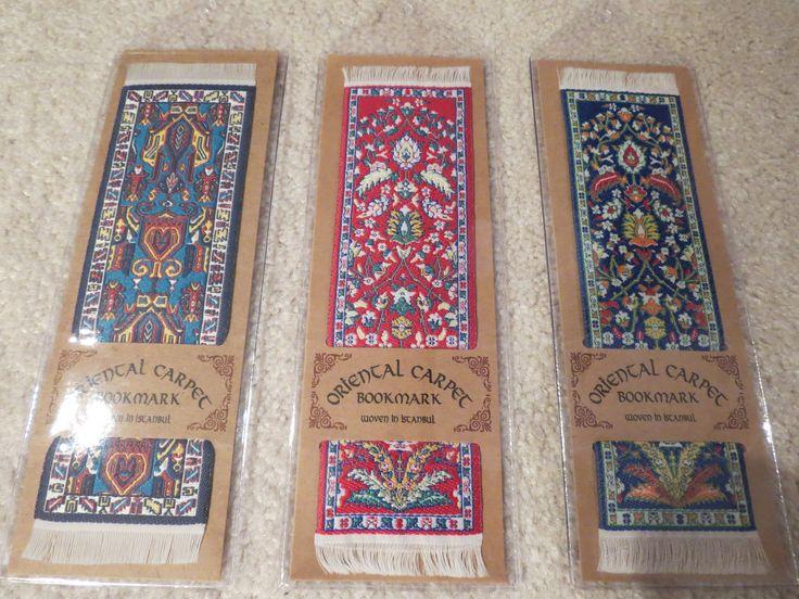 From left to right here are the Tientsin (China, circa 1890), Kayseri - red (Turkiye, circa 1755) and Kayseri - blue (Turkiye, circa 1810) bookmarks.