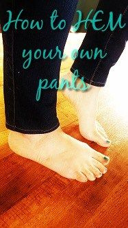 Don't spend money on a tailor if you have a sewing machine! I will show you how to hem your pants. It is seriously easy! I have super short legs. I think you see the problem here… Step…