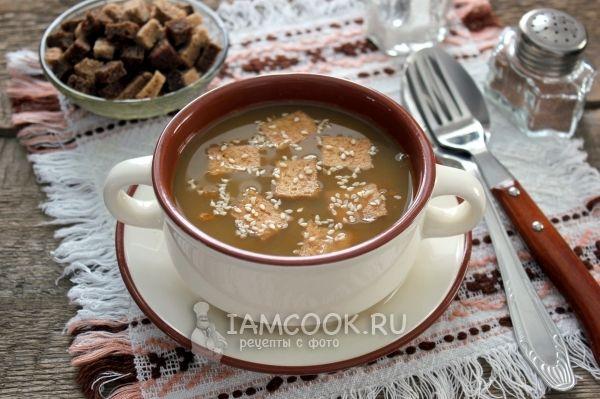Чечевичный суп с тофу