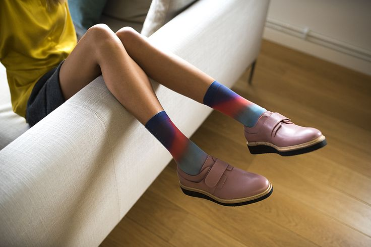 Swedish footwear label Stig Percy, powder pink shoes in vegetable tanned leather