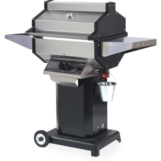 Phoenix Stainless Steel Natural Gas Grill On Black Aluminum Pedestal Cart SDBOCN