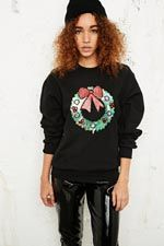 Sequin Christmas Sweater at Urban Outfitters