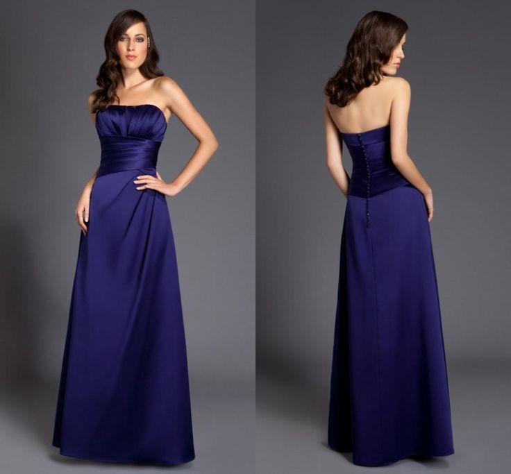 Dark Navy Blue Bridesmaid Dress Wedding Inspiration