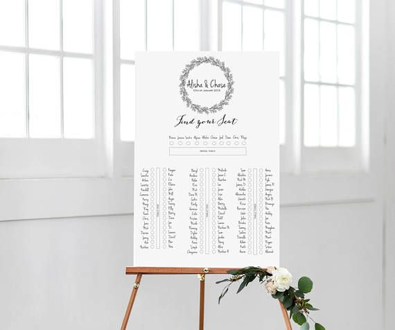 The 25+ Best Rustic Seating Charts Ideas On Pinterest Table   Printable  Seating Charts  Printable Seating Charts
