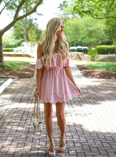 Twirling into the long weekend in the prettiest pink dress!  // {PS - it's under $100 and comes in yellow & white!!} // #liketkit http://liketk.it/2ruzJ @liketoknow.it