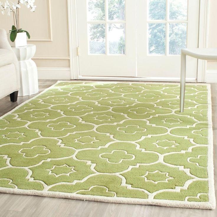 safavieh handmade moroccan chatham green ivory wool rug 5u0027 x 8u0027 by safavieh