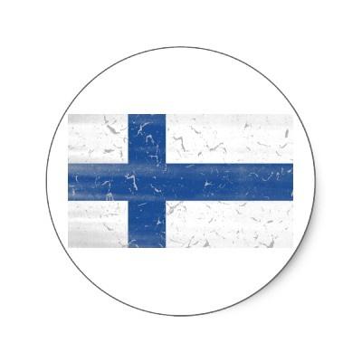 Vintage Finland flag sticker