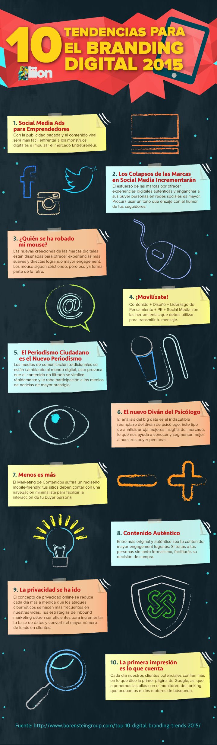 Tendencias en branding digital #infografia #infographic #marketing