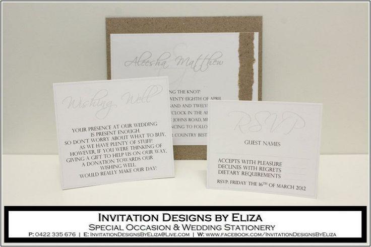 Invitation Design {Wedding} Natural County Eco Theme - www.facebook.com/InvitationDesignsByEliza