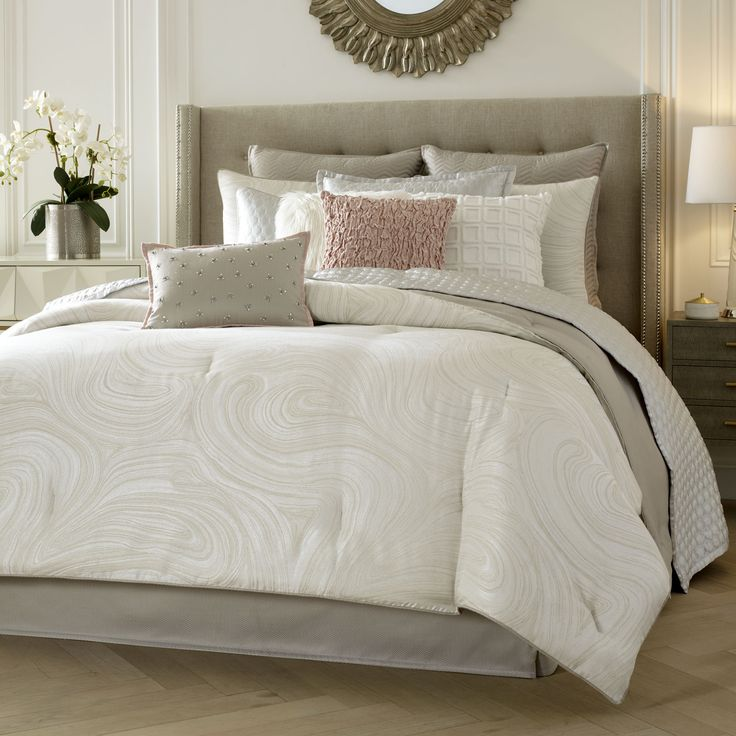 Soft to the touch and soothing to the eye. MYSTIC bedding by Candice Olson for Dillard's.  #candiceolson