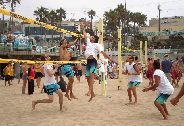 """6-MAN VOLLEYBALL TOURNAMENT 2012: Fully decked out in VAST's QUAD (4-way stretch fabric) board shorts """"Theo"""", they're ready for action…: Stretch Fabric, Theyr Ready, 4Way Stretch"""