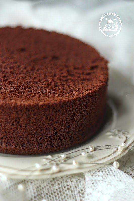 Nasi Lemak Lover: Japanese Dark Pearl Chocolate Chiffon Cake 日式黑珍珠戚风