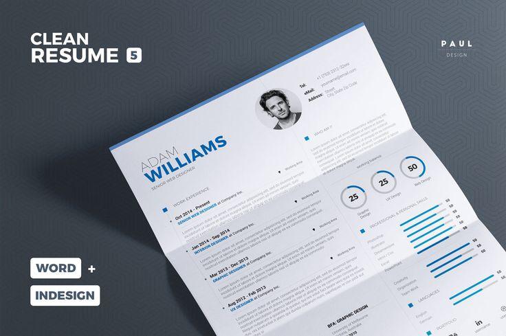 Clean Resume/Cv Vol. 5 by TheResumeCreator on @creativemarket