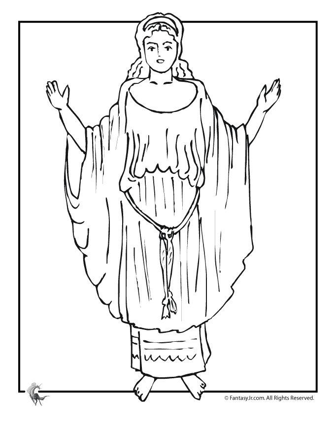 Starověcí řečtí bohové a hrdinové řecké Omalovánky řecké mýty Omalovánka - Aphrodite - Fantasy Jr.