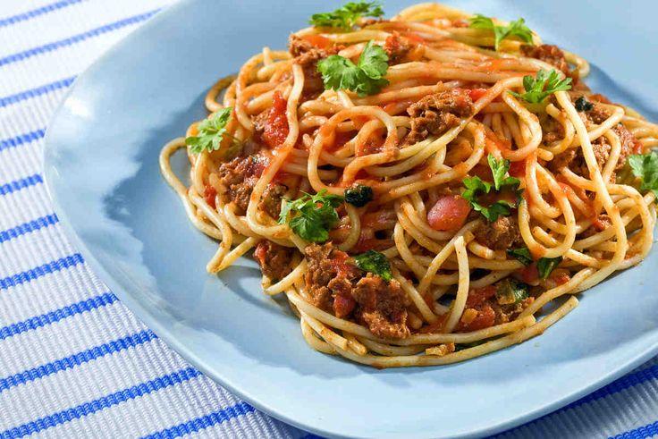 Spaghetti z tuńczykiem #smacznastrona #przepisytesco #poradytesco #spaghetti #pasta #tuńczyk #italy #pycha