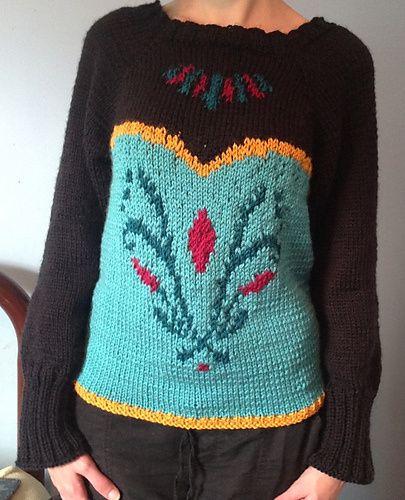 Queen Elsa Coronation Sweater Knitting Pattern by Danie S Frozen Inspired K...