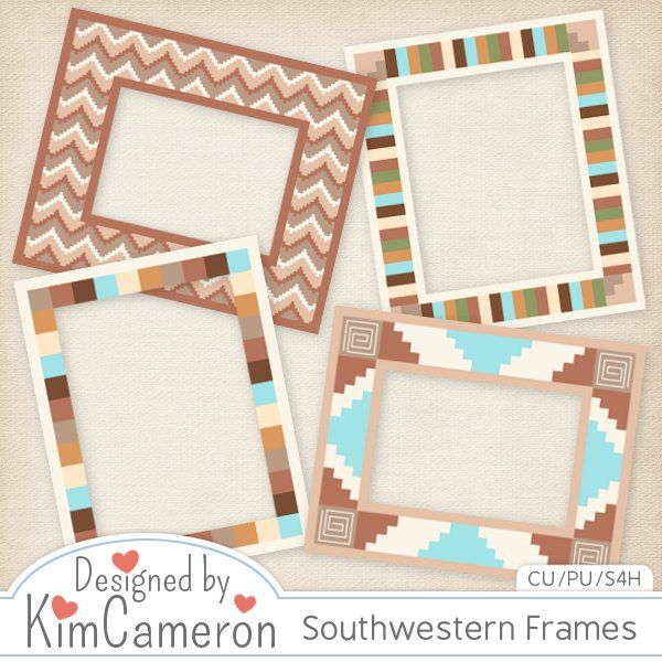 Southwestern Frames [kimcameron] : CU Digitals, Commercial Use / CU Digital Scrapbooking elements, templates, overlays, actions, scripts and tools