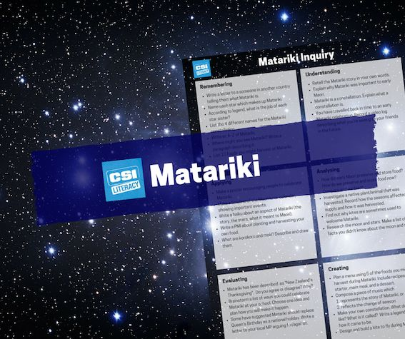 Happy new year! Activities and lessons for Matariki