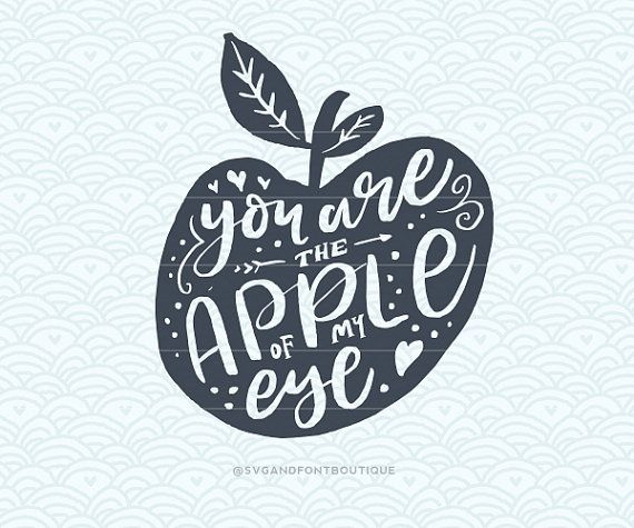 SVG Cuttable Vector  You Are the Apple of my by SVGandFontBoutique