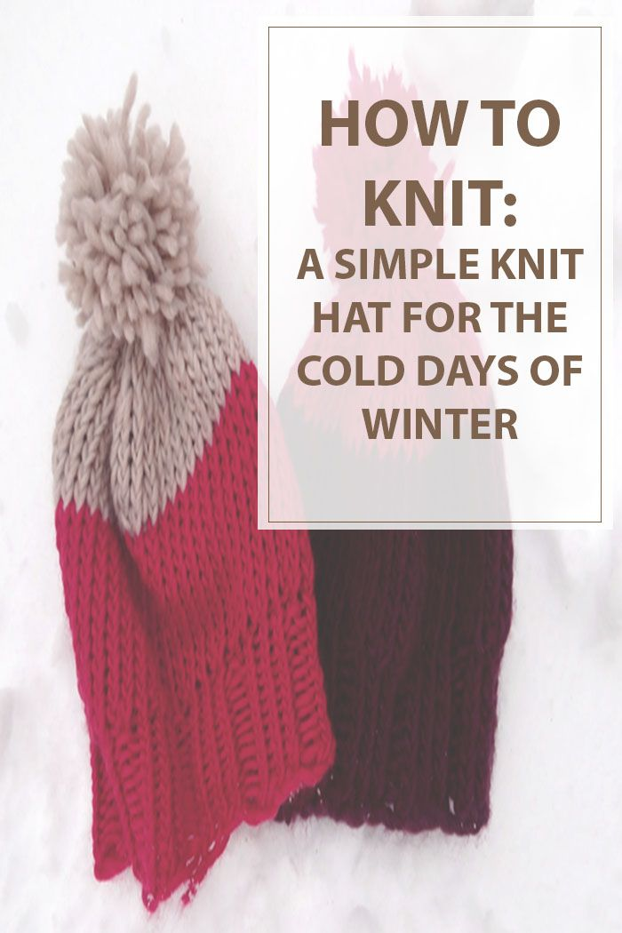 For the frigid cold temperatures you will need a warmer knit hat. When  those frigid winds ripped through your current hat and nearly froze your ears. Immediate action needed to be take and that meant knitting up a warmer hat. Have fun with this simple knitting pattern. #Knitting Pattern For Simple #Knit Hat | Housewiveshobbies.com