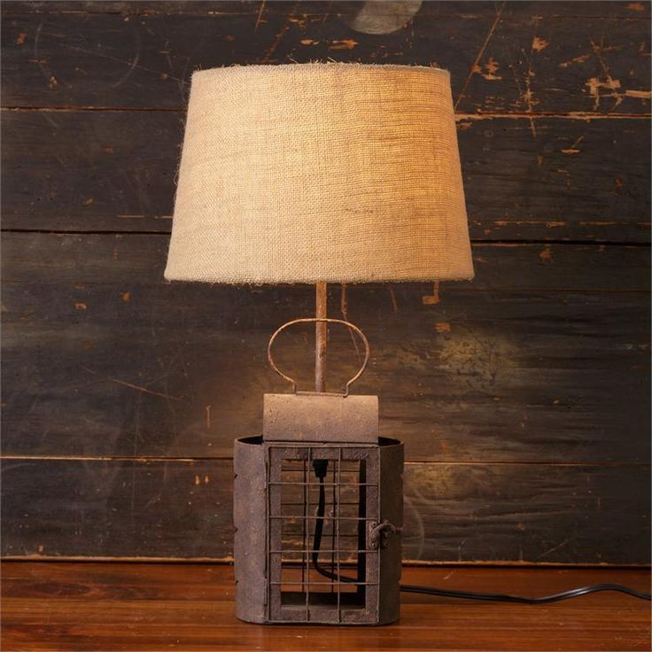 Details about New Primitive Country Farmhouse RUSTY CANDLE LANTERN LAMP Elect