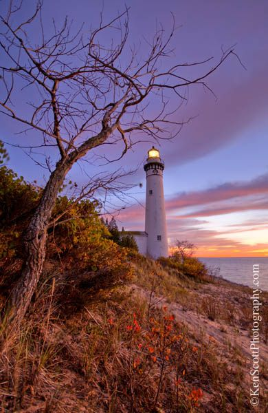 South Manitou Light, Michigan ... relit after 50 years of darkness ~ by Ken Scott, via Flickr