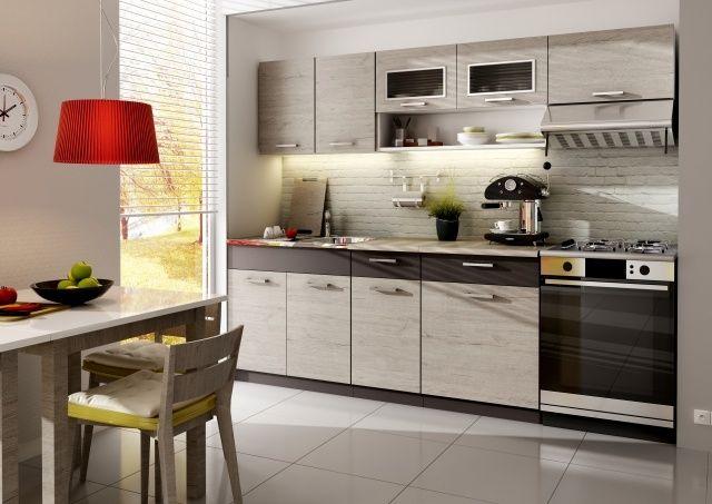 kleine küche ideen küchenzeile helles holz unterbauleuchten