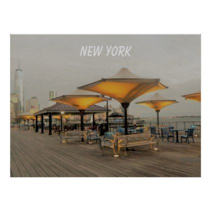 New York City From A Distance Poster