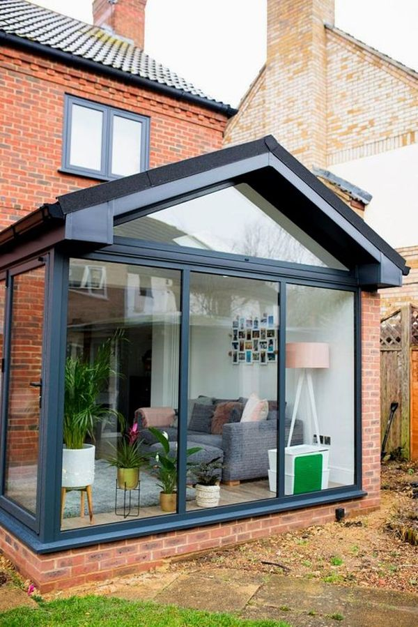 35 Fabulous House Extension Ideas For Your Extra Room Homemydesign In 2020 Garden Room Extensions House Renovation Projects House Extension Design