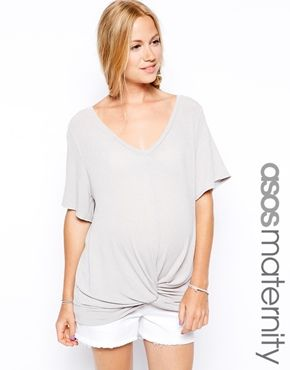 ASOS Maternity Slouchy Top With Twist Front