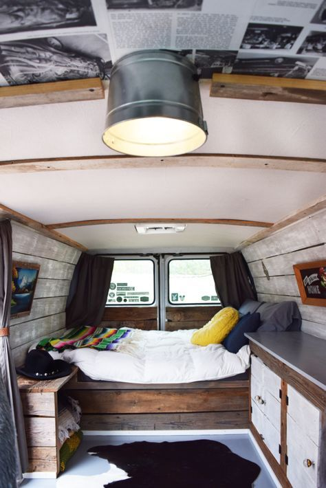 A Customized '70s inspired van