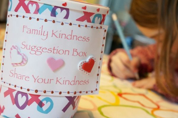 family kindness suggestion box
