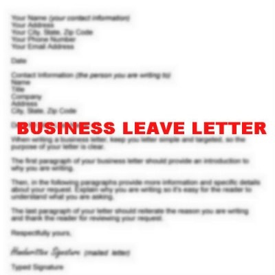 How to Write Business Leave Letter Resignation Letter - leave letter
