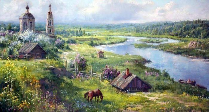 Очень русская живопись Владимира Жданова (публикация Виктора Беседина)
