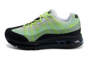Online Bestellen Nike Air Max 95 2013 DYN FW Hardloopschoenen Heren Wit Fluorescerend Groen Zwart Uitverkoop