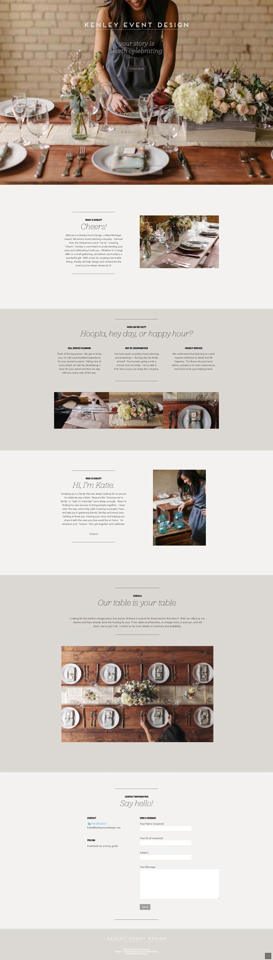 Gorgeous blend of minimalist design and content with stunning photography - we love this! #minimalistdesign #webdesign
