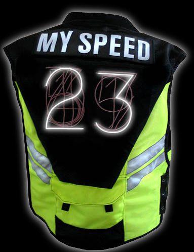 Bicycle speed vest (arduino, EL Wire, wearable tech) #wearabletech