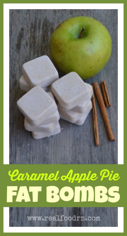 Who doesn't love a good fat bomb?! Especially when it tastes like caramel apple pie! These little treats are full of appetite satiating healthy fats, and are great for curbing those sweet cravings! Perfect flavors for the quickly approaching fall! realfoodrn.com #fatbombs #caramelapple
