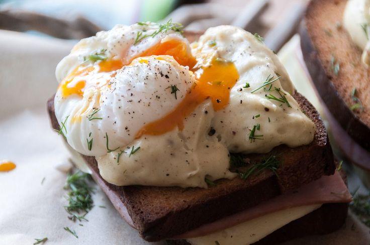 Croque Madame με αυγά ποσέ