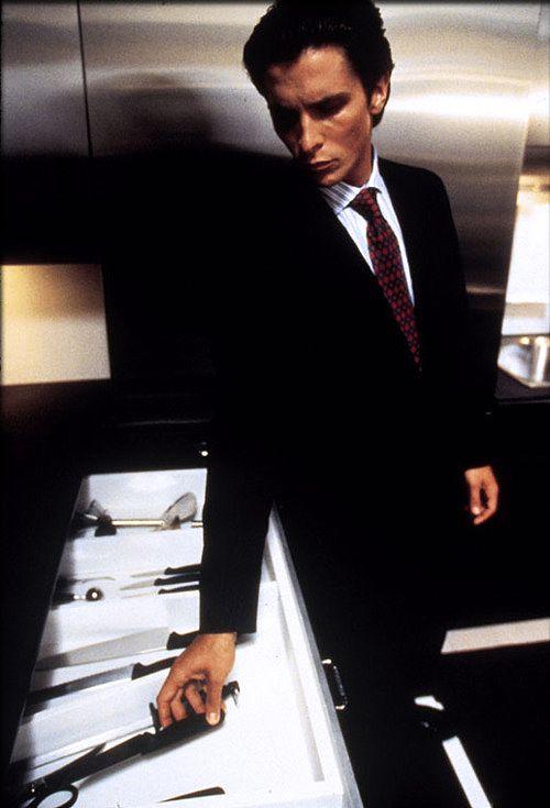 Source: thegoodfilms  #American Psycho #Christian Bale