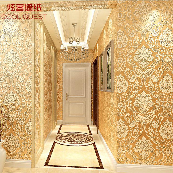 10 m 3D Europea Damasco papel tapiz dormitorio sala de estar TV telón de fondo pintado no tejido wallpaper(China (Mainland))