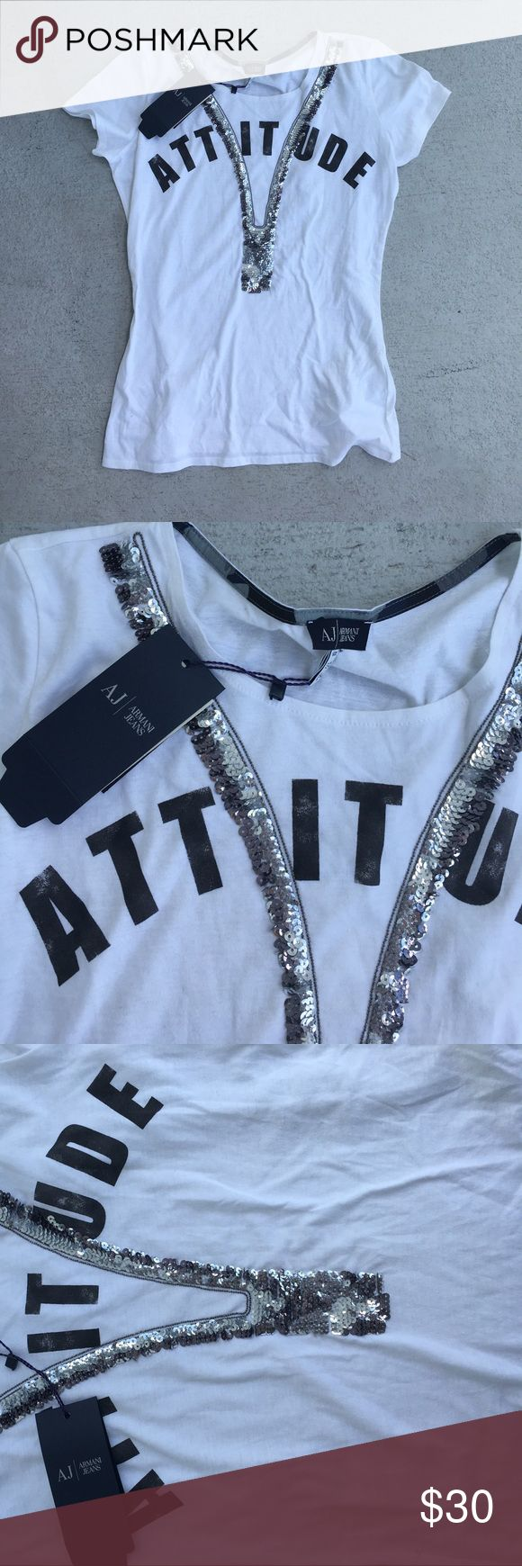 Armani t-shirt Never been worn, with tags. Armani t shirt Armani Jeans Tops Tees - Short Sleeve