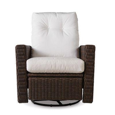 Lloyd Flanders Mesa Swivel Glider Recliner Chair with Cushions Fabric: Impact Citron Lime, Sunbrella