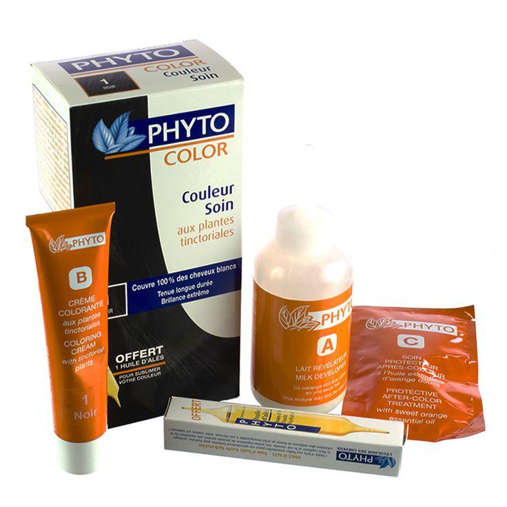 Phytocolor 1 Zwart | Een natuurlijke kleur voor zacht en stralend haar! Dankzij de permanente glanskleuring van Phytocolor krijgt je haar een natuurlijke en duurzame kleur.