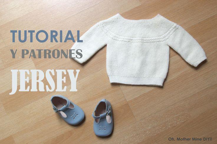 DIY de tejer con dos agujas: como hacer este jersey de bebe que llevo la princesa Charlotte de Inglaterra en su presentación. Los patrones los tenéis disponi...