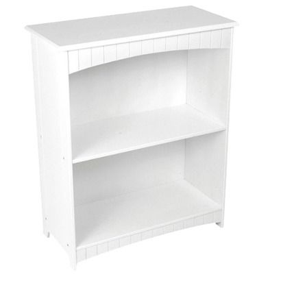 KidKraft Nantucket 2-Shelf Bookcase - White