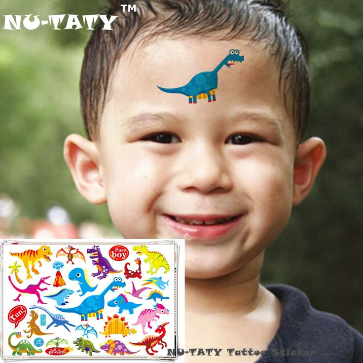 NU-TATY Jurassic Dinosaur Child Temporary Tattoo Body Art Flash Tattoo Stickers 17*10cm Waterproof Styling Henna Tatoo Sticker