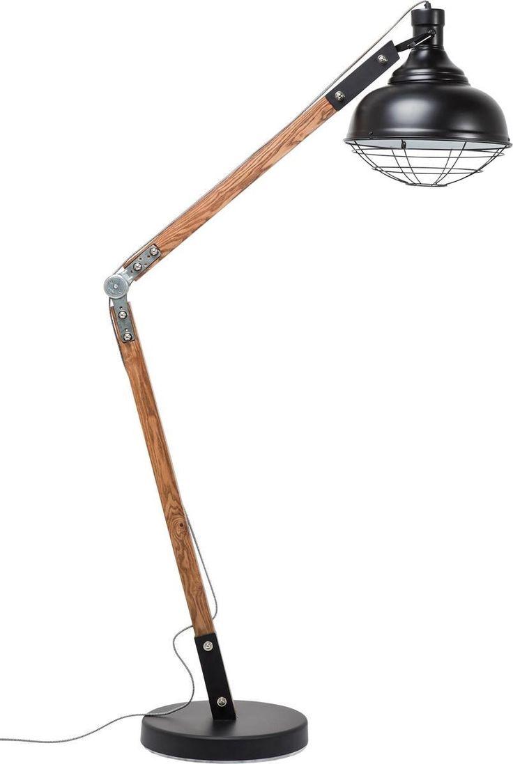 Kare Design Rocky Lampa Stojąca Drewno Metal 175cm - 36593