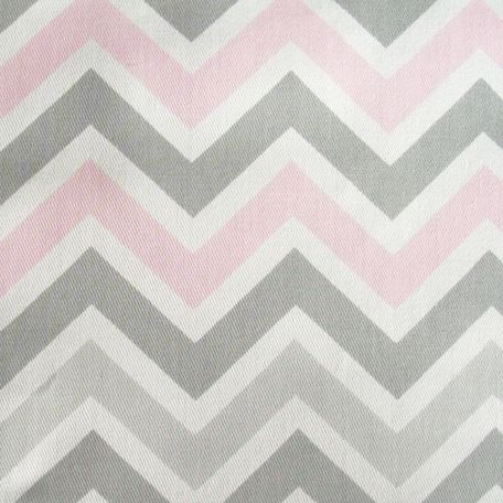 Zig Zag in Pink and Gray Fabric